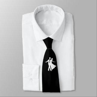 Cravate de danse de salon noire et blanche
