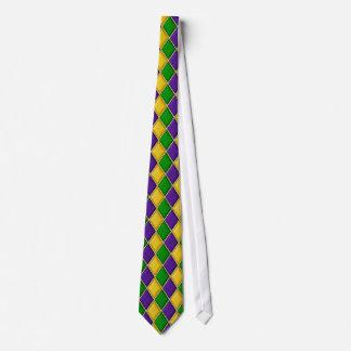 Cravate de diamant de harlequin de mardi gras