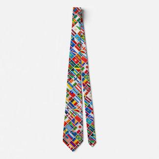 Cravate de drapeaux du monde