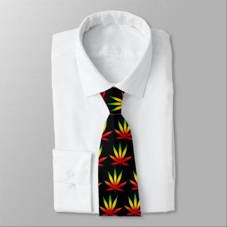 Cravate de feuille de la Jamaïque de reggae de