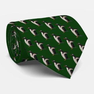 Cravate de frénésie de pingouin (vert-foncé)