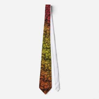 Cravate de lever de soleil de crâne
