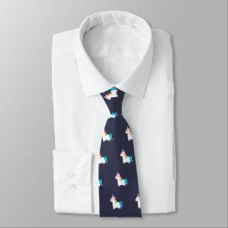 Cravate de licorne d'arc-en-ciel