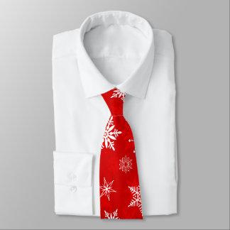 Cravate de Noël avec des flocons de neige