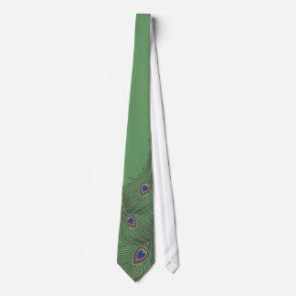 Cravate de paon de 3 plumes pour des mariages