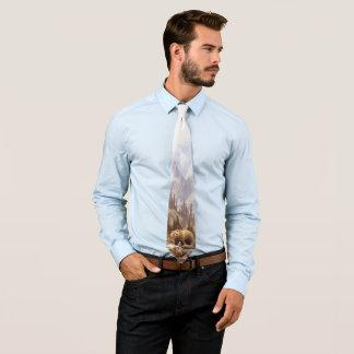 Cravate de paysage d'ours gris (1 côté)