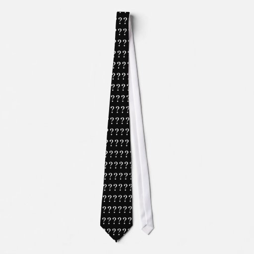 Cravate | de point d'interrogation noir et blanc