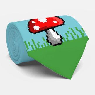 Cravate de pré de champignon de pixel
