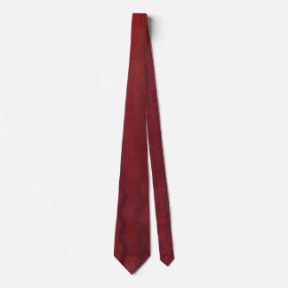 Cravate de vin rouge avec un regard différent