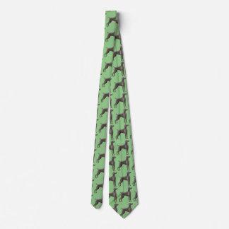 Cravate de Weimaraner vert clair