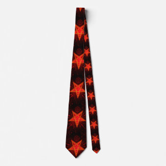 Cravate démon au néon