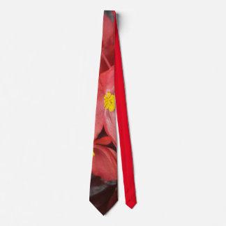 """Cravate """"des bégonias rouges de Mary Ann"""""""