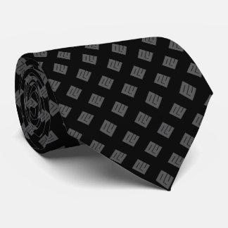 Cravate Diamant gris sur le noir