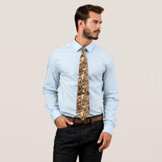 Cravate d'impression de Latte Paisley