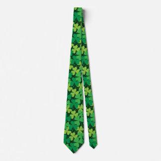 Cravate d'impression de shamrock