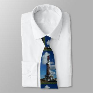 Cravate d'impression d'installation de pétrole et