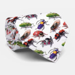 cravate d'insectes et d'insectes