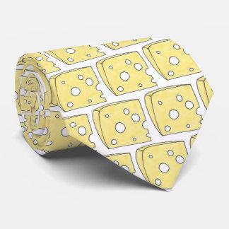 Cravate Dites le fin gourmet troué jaune de cale de