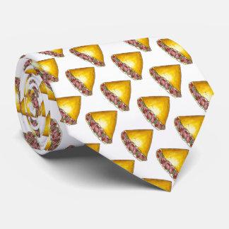 Cravate d'oeufs de nourriture de petit déjeuner