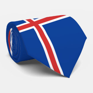 Cravate Drapeau de l'Islande