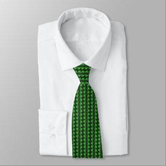 cravate du jour de St Patrick de motif de trèfle