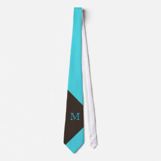 Cravate élégant de monogramme de turquoise et de B