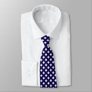 cravate élégante formelle blanche de bleu royal de
