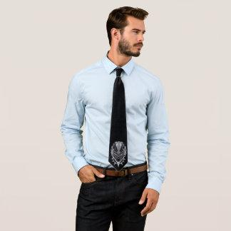 Cravate Emblème de tête de panthère noire de la panthère