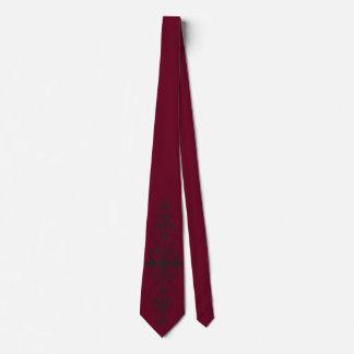 Cravate en verre florale