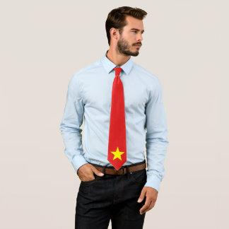 Cravate faite sur commande de drapeau du Vietnam