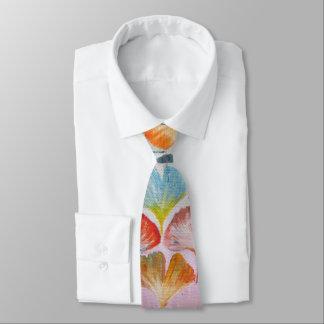 Cravate Feuille coloré de Ginkgo