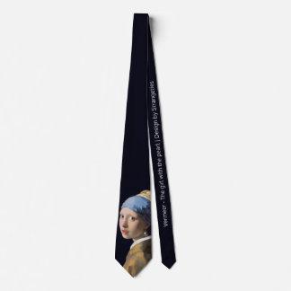Cravate Fille avec une boucle d'oreille de perle