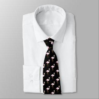 Cravate Flamant rose d'aquarelle