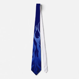 Cravate Flammes de emballage des véhicules à moteur bleues