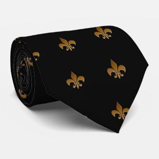 Cravate Fleur de lis/cravate noire