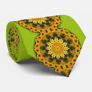 Cravate Fleur-Mandala, oeil Susans 02,2 de Brown