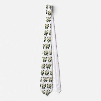 Cravate Fleurs blanches de floraison de fleur de magnolia
