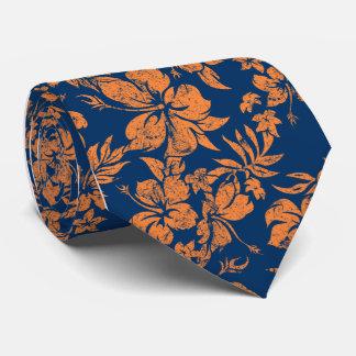 Cravate florale hawaïenne de Pareau de ketmie