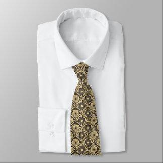 Cravate florale jaune de motif de Jitaku Brown