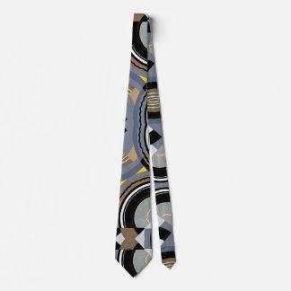 Cravate Formes géométriques d'art déco de jazz vintage de