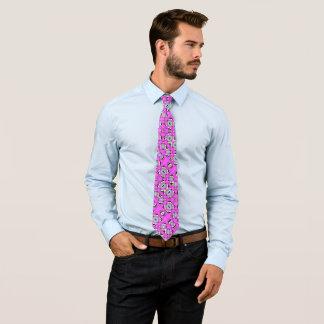 Cravate Foulard psychédélique de satin de roche de