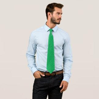 Cravate Foulard vert irlandais victorien vintage de satin