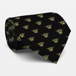 Cravate Gaffez l'abeille en or votre couleur d'arrière -