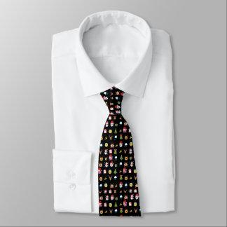 Cravate gaie d'Emoji de houx