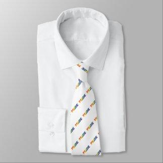 Cravate Gay pride d'arc-en-ciel sur le blanc