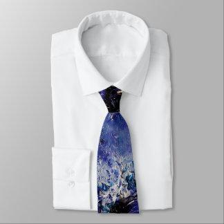 Cravate géniale bleue d'art