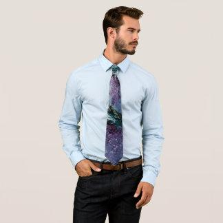 Cravate géniale pourpre et verte d'art abstrait
