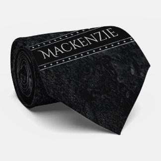 Cravate Goujons gothiques mats nommés de noir foncé du