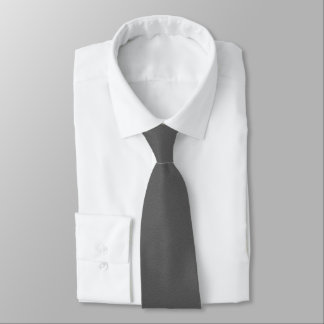 Cravate Gris de charbon de bois