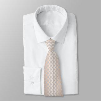 Cravate Gris rose de motif de pois d'or de poussin élégant